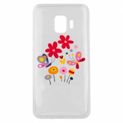 Чехол для Samsung J2 Core Flowers and Butterflies