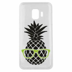 Чехол для Samsung J2 Core Pineapple with glasses