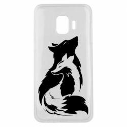 Чехол для Samsung J2 Core Wolf And Fox