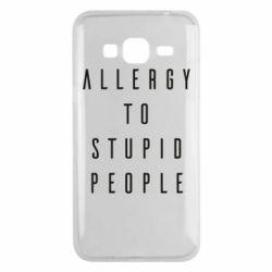 Чохол для Samsung J3 2016 Allergy To Stupid People