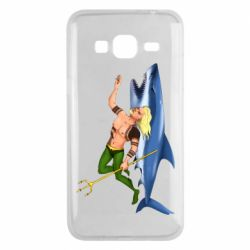 Чехол для Samsung J3 2016 Aquaman with a shark
