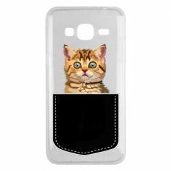 Чехол для Samsung J3 2016 Cat in your pocket