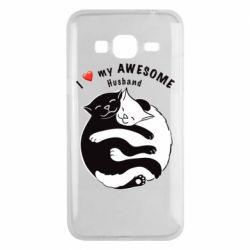 Чехол для Samsung J3 2016 Cats and love