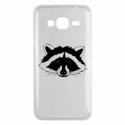 Чохол для Samsung J3 2016 Cute raccoon face