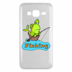 Чехол для Samsung J3 2016 Fish Fishing