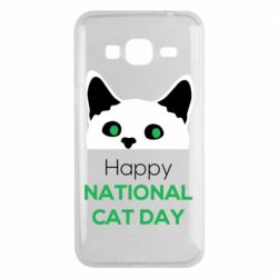 Чехол для Samsung J3 2016 Happy National Cat Day