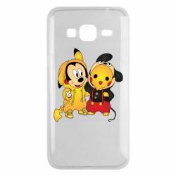Чехол для Samsung J3 2016 Mickey and Pikachu