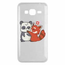 Чохол для Samsung J3 2016 Panda and fire panda