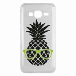 Чехол для Samsung J3 2016 Pineapple with glasses