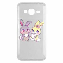 Чохол для Samsung J3 2016 Rabbits In Love