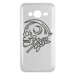 Чохол для Samsung J3 2016 Skull with scythe