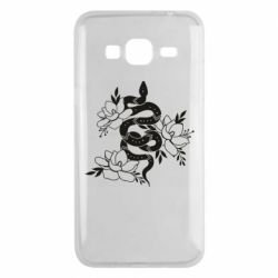 Чохол для Samsung J3 2016 Snake with flowers