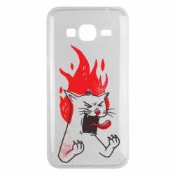 Чохол для Samsung J3 2016 The cat is mad