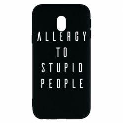 Чохол для Samsung J3 2017 Allergy To Stupid People