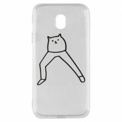 Чохол для Samsung J3 2017 Cat in pants