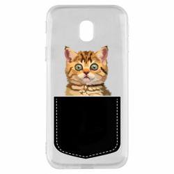 Чехол для Samsung J3 2017 Cat in your pocket