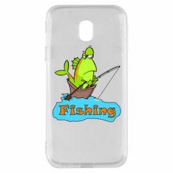Чехол для Samsung J3 2017 Fish Fishing