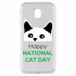 Чехол для Samsung J3 2017 Happy National Cat Day