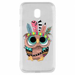 Чохол для Samsung J3 2017 Little owl with feathers