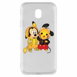 Чехол для Samsung J3 2017 Mickey and Pikachu