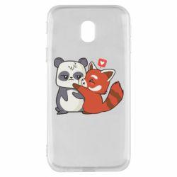 Чохол для Samsung J3 2017 Panda and fire panda
