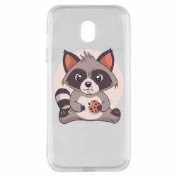 Чохол для Samsung J3 2017 Raccoon with cookies