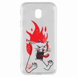 Чохол для Samsung J3 2017 The cat is mad