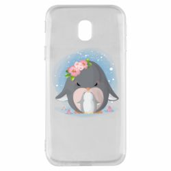 Чехол для Samsung J3 2017 Two cute penguins