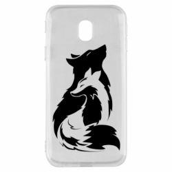 Чехол для Samsung J3 2017 Wolf And Fox
