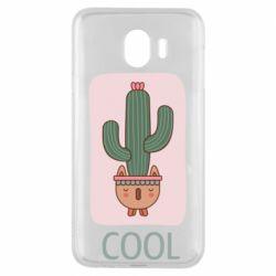 Чехол для Samsung J4 Cactus art