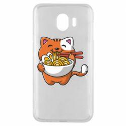 Чохол для Samsung J4 Cat and Ramen