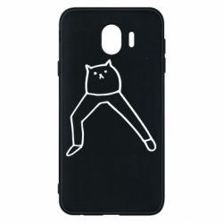 Чохол для Samsung J4 Cat in pants