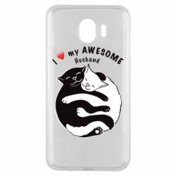 Чехол для Samsung J4 Cats and love