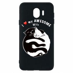Чехол для Samsung J4 Cats with a smile