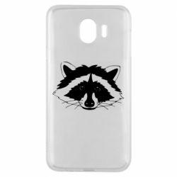 Чохол для Samsung J4 Cute raccoon face
