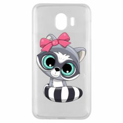Чехол для Samsung J4 Cute raccoon