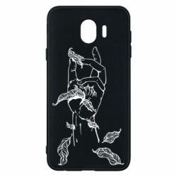 Чохол для Samsung J4 Hand with leafs