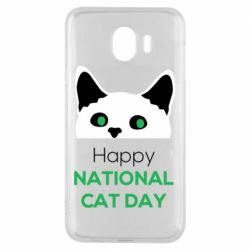 Чехол для Samsung J4 Happy National Cat Day