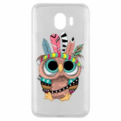 Чохол для Samsung J4 Little owl with feathers
