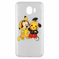 Чехол для Samsung J4 Mickey and Pikachu