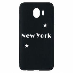 Чехол для Samsung J4 New York and stars