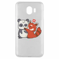 Чохол для Samsung J4 Panda and fire panda