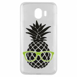 Чехол для Samsung J4 Pineapple with glasses