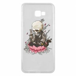 Чехол для Samsung J4 Plus 2018 A skeleton sitting on a lotus