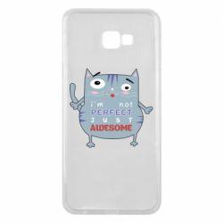 Чехол для Samsung J4 Plus 2018 Cute cat and text