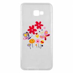 Чехол для Samsung J4 Plus 2018 Flowers and Butterflies