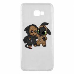 Чехол для Samsung J4 Plus 2018 Groot And Toothless