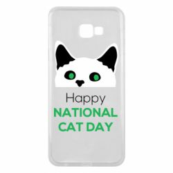 Чехол для Samsung J4 Plus 2018 Happy National Cat Day