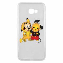 Чехол для Samsung J4 Plus 2018 Mickey and Pikachu