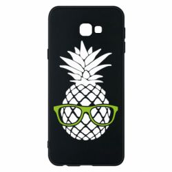 Чехол для Samsung J4 Plus 2018 Pineapple with glasses